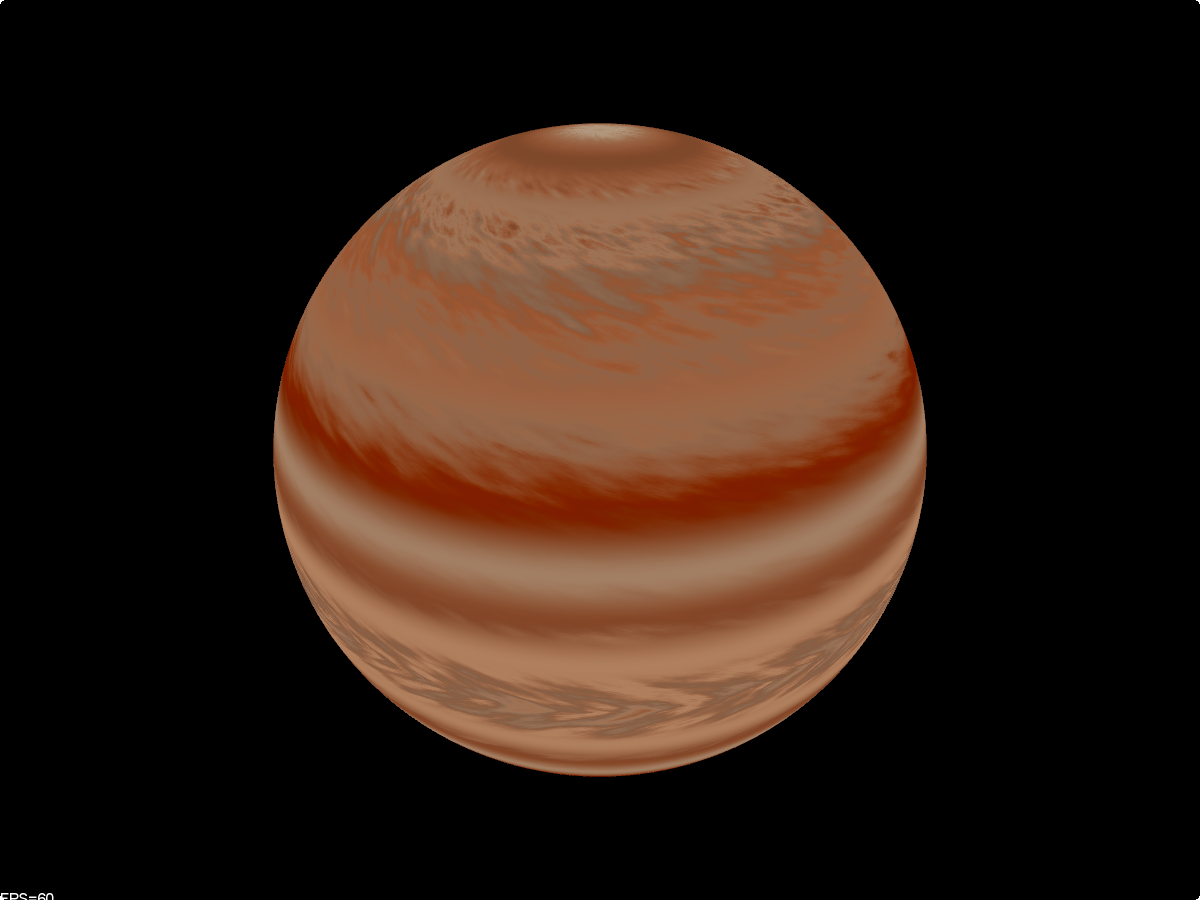 Gas planet generated by Eric Obermühlner